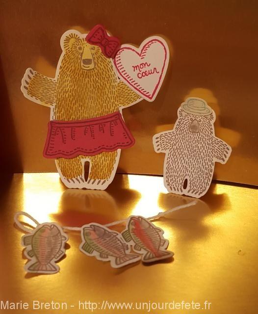 Hug Bear / Câlinours / Stampin'up/Un jour de fête avec Stampin'up ! | Des idées créatives pour embellir vos fêtes