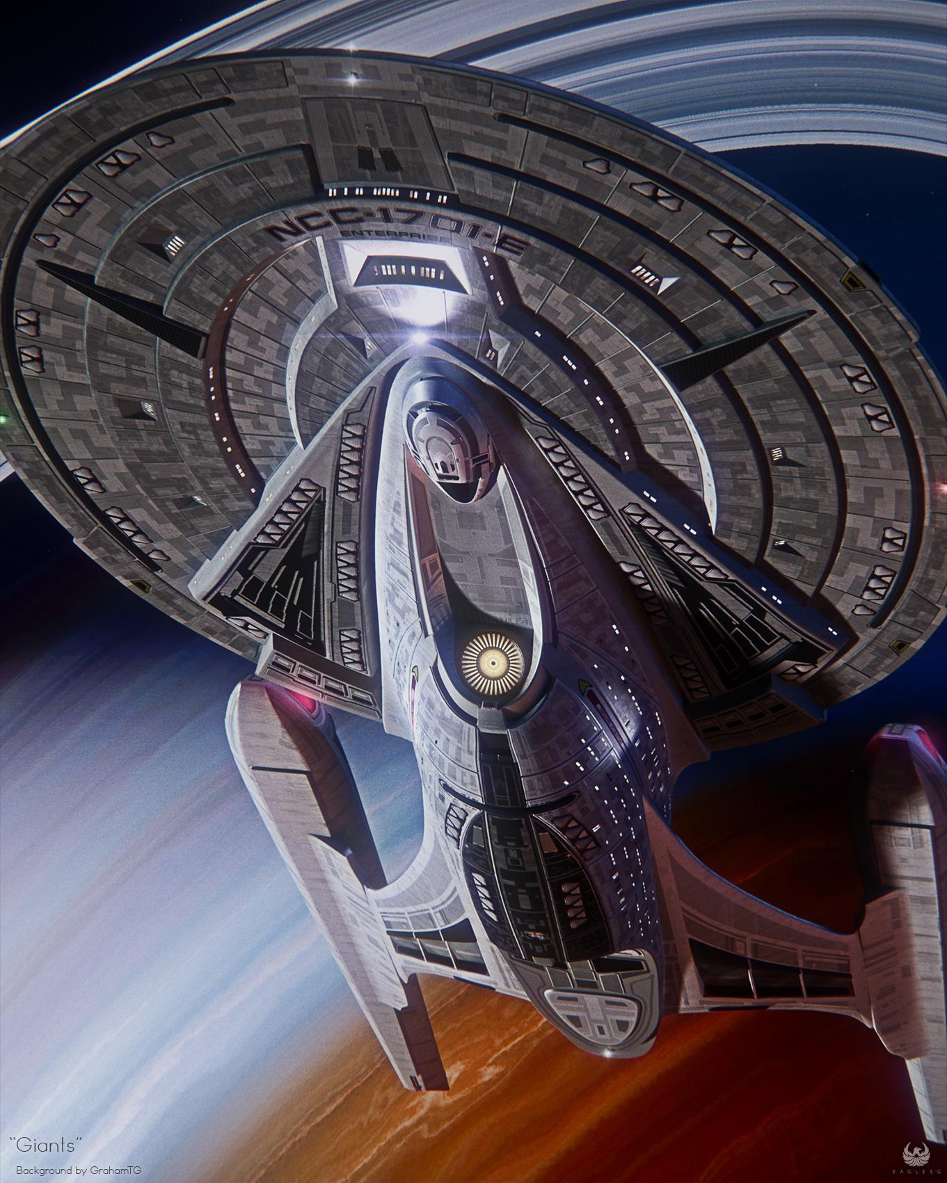 Giants By Eaglesg On Deviantart Star Trek Ships Star Trek Starships Star Trek Wallpaper