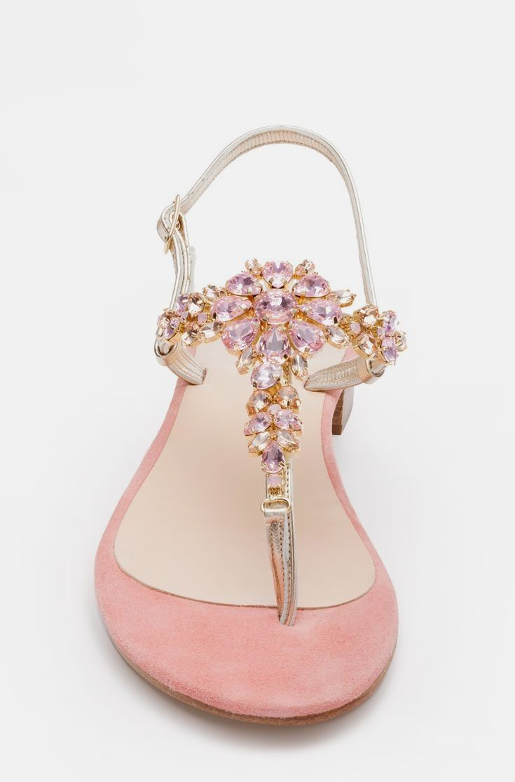 f929793e5ce The light pink ANNAKATE sandals are made entirely by hand from an  experienced artisan on the Amalfi coast in Italy. Butter-soft shimmering  Ita…