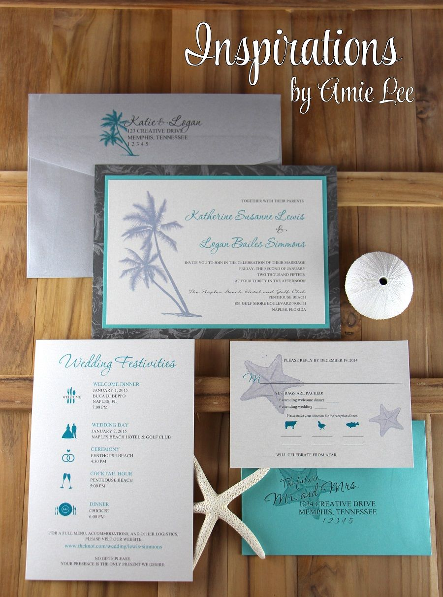 Beach Wedding Invitations By Inspirations By Amie Lee Inspirations