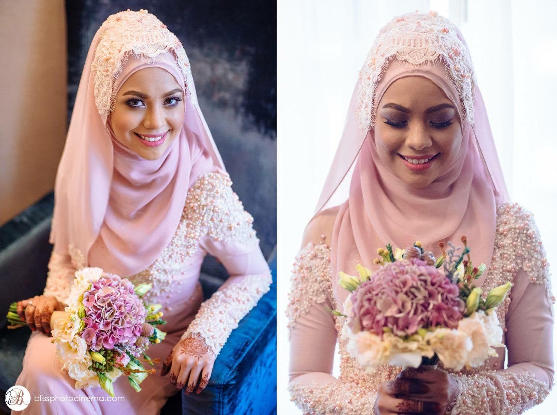 pretty in soft pink malaysian bride | wedding ❤ | Pinterest