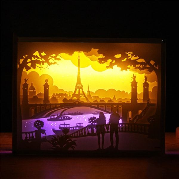 Product Image For 3d Paper City Night Lights 3d Paper Art Paper City Paper Artwork