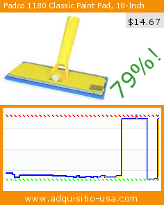 Padco 1180 Classic Paint Pad, 10-Inch (Tools & Home Improvement). Drop 79%! Current price $14.67, the previous price was $69.53. http://www.adquisitio-usa.com/padco-incorporated-usa/padco-1180-classic-paint