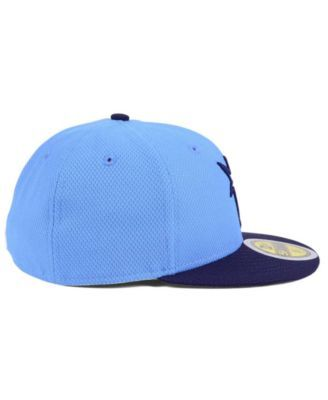 official photos 10c89 83823 New Era Kids  Tampa Bay Rays Batting Practice Diamond Era 59FIFTY Cap -  Blue 6 1 2