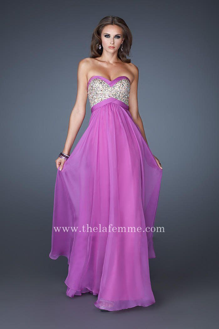 La Femme 18843 Magenta Sequined Strapless Prom Dress Sale | La Femme ...