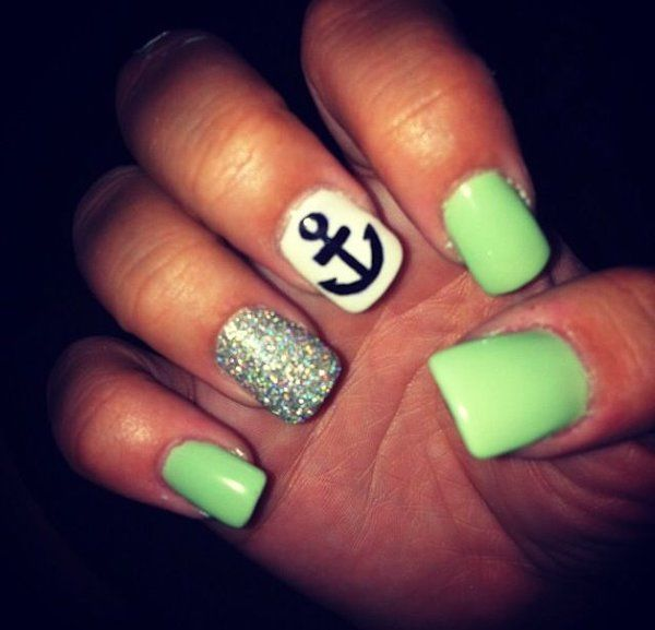 2014 at 600 × 577 in Summer Nail Art - Summer Nail Designs 2014 At 600 × 577 In Summer Nail Art