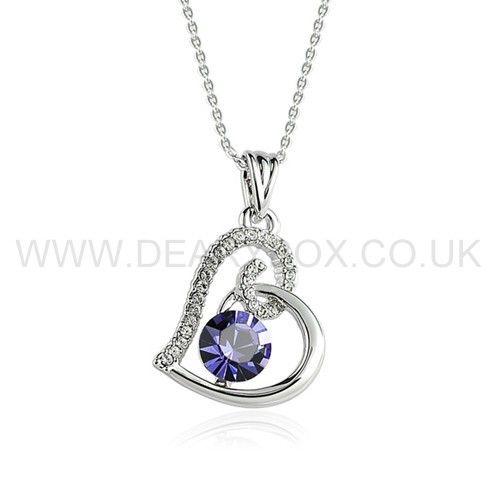 heart swarovski crystal pendant valentine day gift for. Black Bedroom Furniture Sets. Home Design Ideas