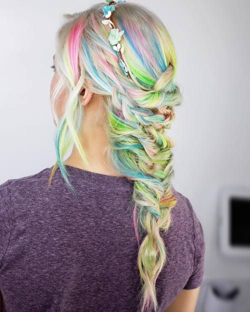 20 Gorgeous Mermaid Hair Ideas From Vibrant To Pastel Mermaid