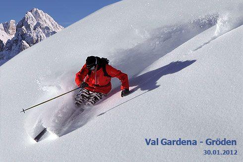Last days to ski in the Dolomites of Italy