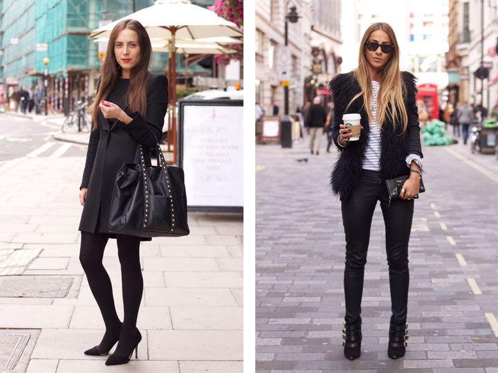 work wear: black