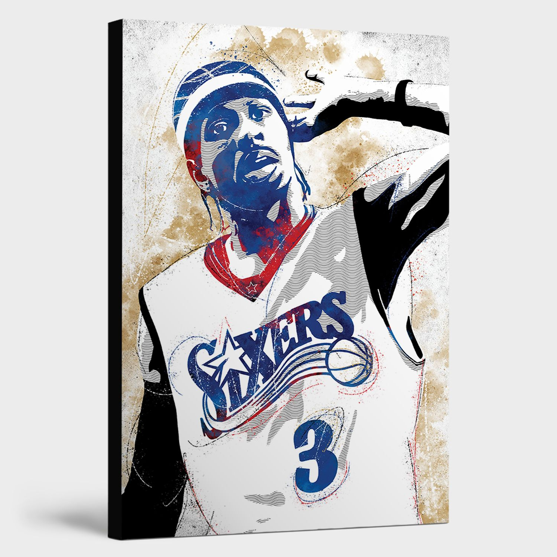 Allen Iverson Canvas Print Wall Art Man Cave Decor Canvas Prints Man Cave Wall Art Basketball Canvas
