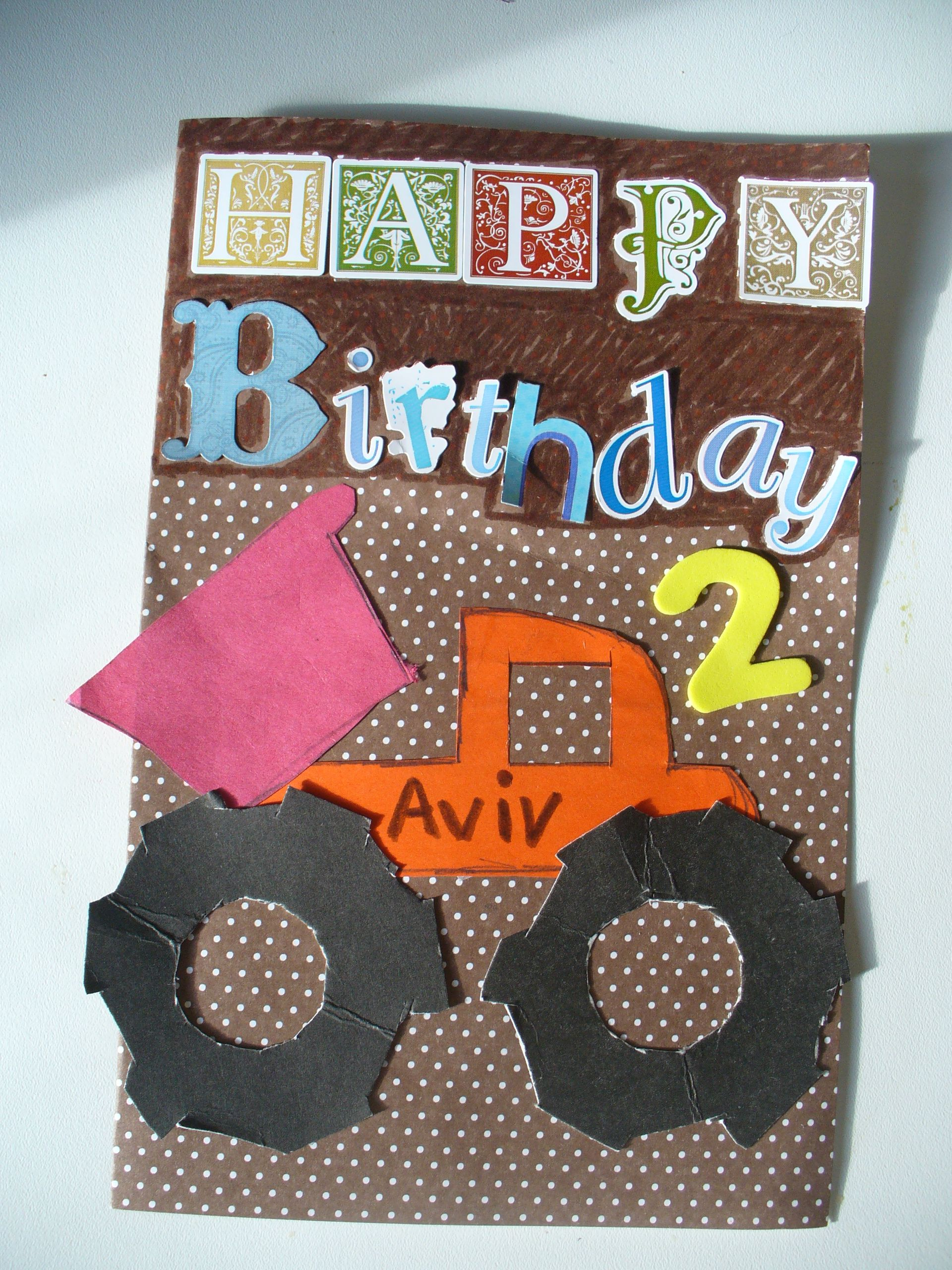 Handmade Card For A 2 Year Old Boy Birthday Cards