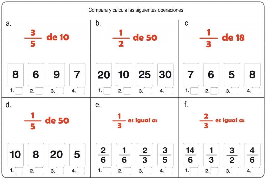 Cómo Calcular La Fracción De Un Número Fracciones Como Enseñar Fracciones Operaciones Con Fracciones