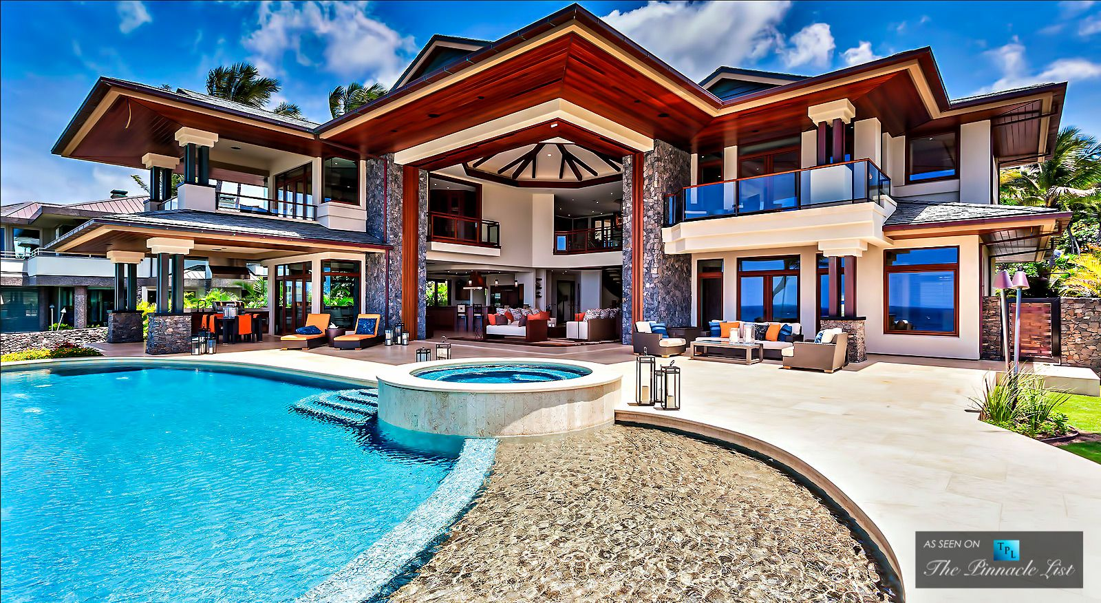 Luxury beach homes exterior - House