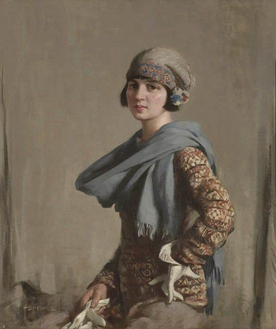 Stanley Cursiter, The Fair Isle Jumper (1923) Edinburgh City Arts ...