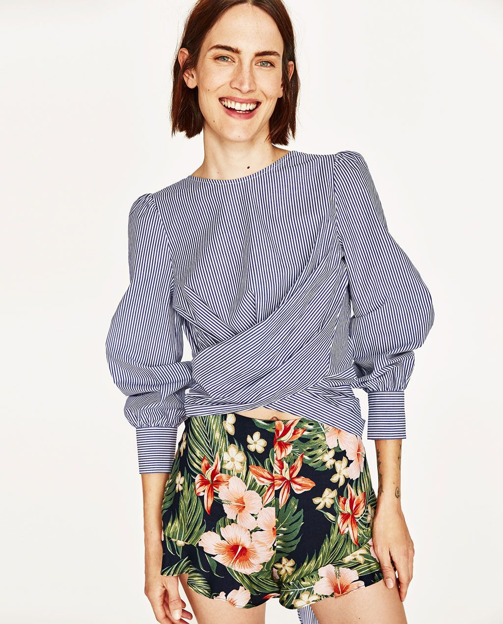 WRAP BLOUSE WITH BOW IN BACK-Blouses-TOPS-WOMAN | ZARA United States