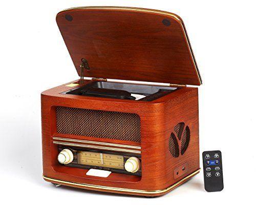 Vintage Radio Retro Radio Cd Spieler Cd Mp3 Fm Lw Usb