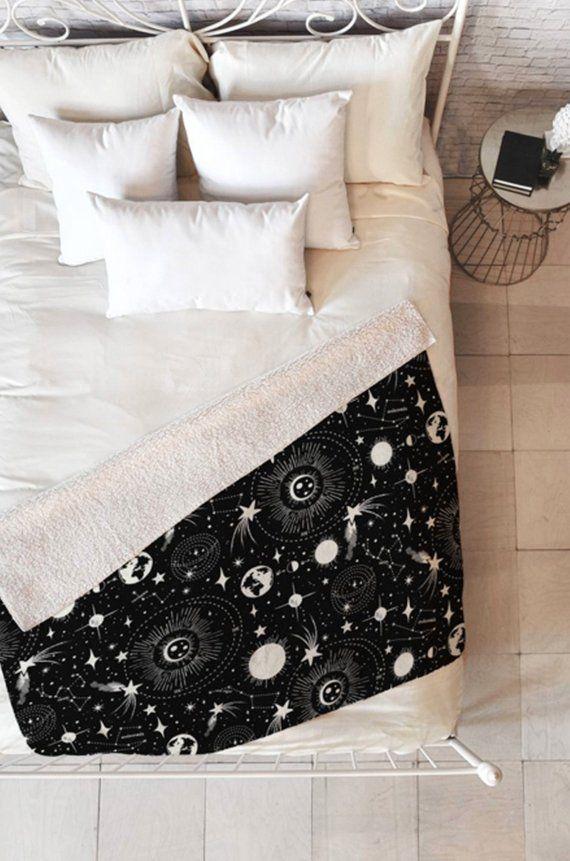 Home Bedding Home, Furniture & DIY Solar System Fleece Throw Blanket