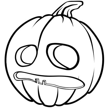 Dessin Citrouille d'Halloween qui a peur a colorier ...