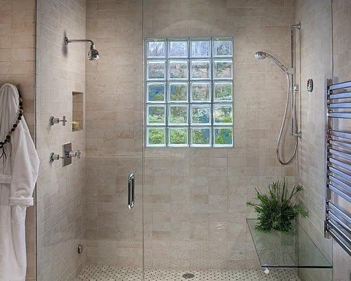 Tile Glass Block Window Glass Block Windows Glass Block Shower
