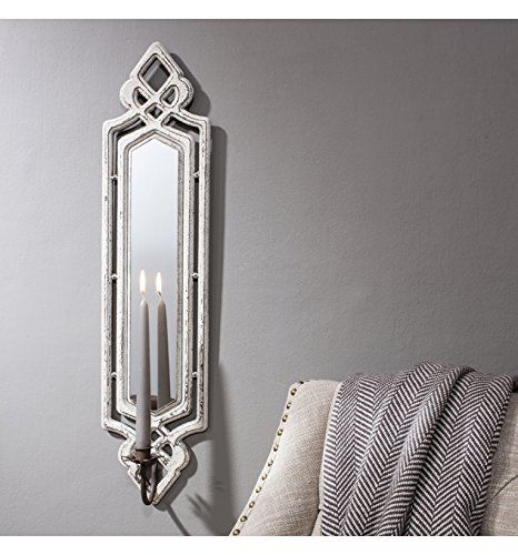 Mirror Candle Wall Sconce - Saxby (5055299468661): Amazon ... on Non Wired Wall Sconces id=89736
