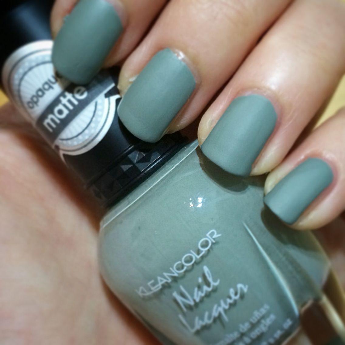 Kleancolor nail polish, mellow khaki matte. Dries very quick ...