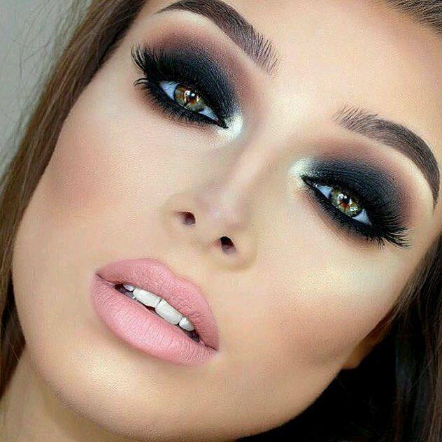 Maquillaje de ojos ahumados en diferentes tonos Makeup, Hair