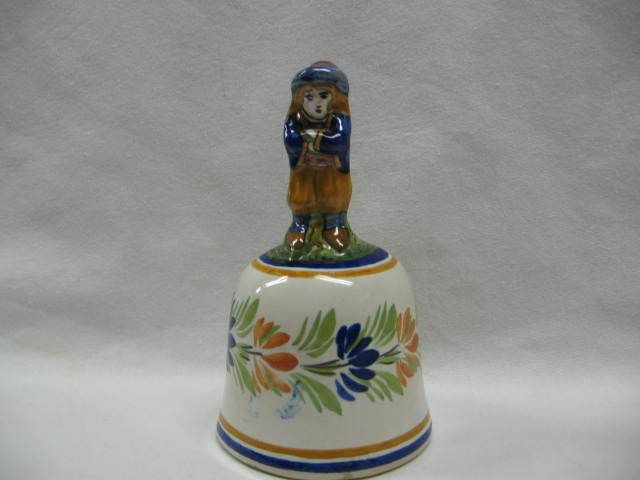 Henriot Quimper Male Figural Pottery Bell French Pottery Pottery Quimper
