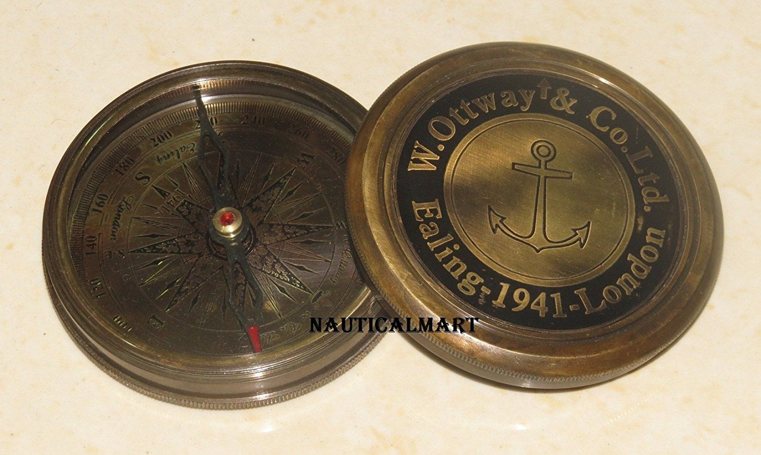 Nautical Marine Solid Brass Marine Robert Frost Poem Compass Christmas Day Gift