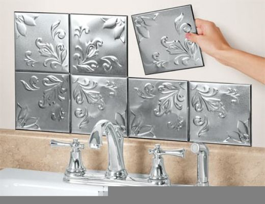 Tin Ceiling Tilesthey Can Be Used For Everything Scamp Impressive Decorative Tin Backsplash Tiles