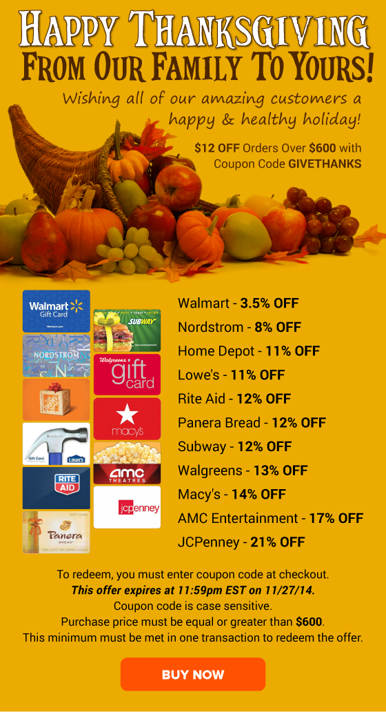 Happy Thanksgiving to YOU: Home Depot 11% OFF, Lowe's 11% ...