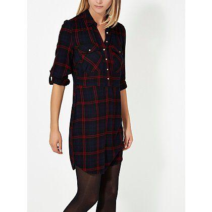 Check Print Shirt Dress | Women | George at ASDA | S T Y L E ...