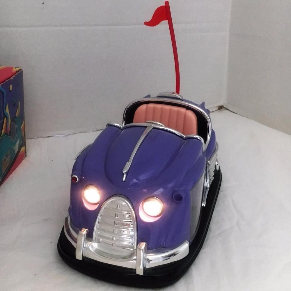 Scooter Bumper Car Alarm Clock Plays Rock Around the Clock Alarm Lights Up w Box #Unbranded