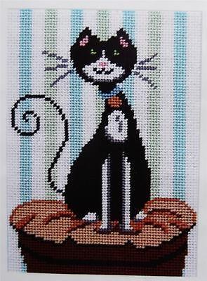 Katitude Kitty Black Cat Kitten Pillow Canoodles Alice Peterson Needlepoint Kit