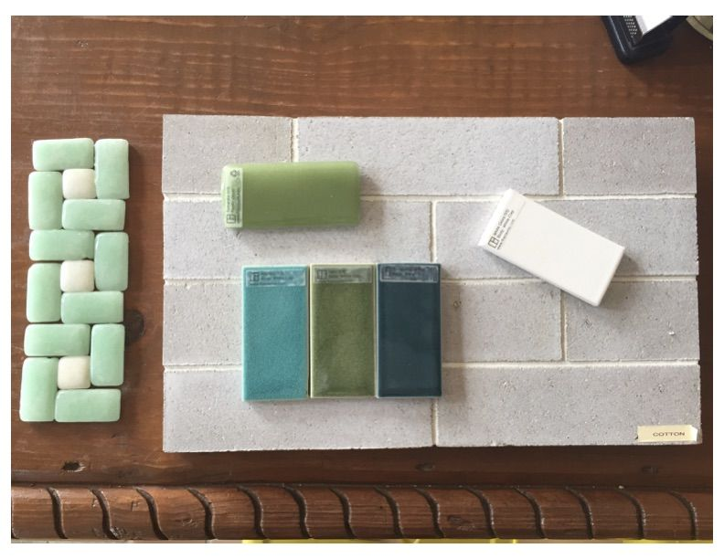 Fireclay tile pattern Bathroom floor thin glazed brick in color