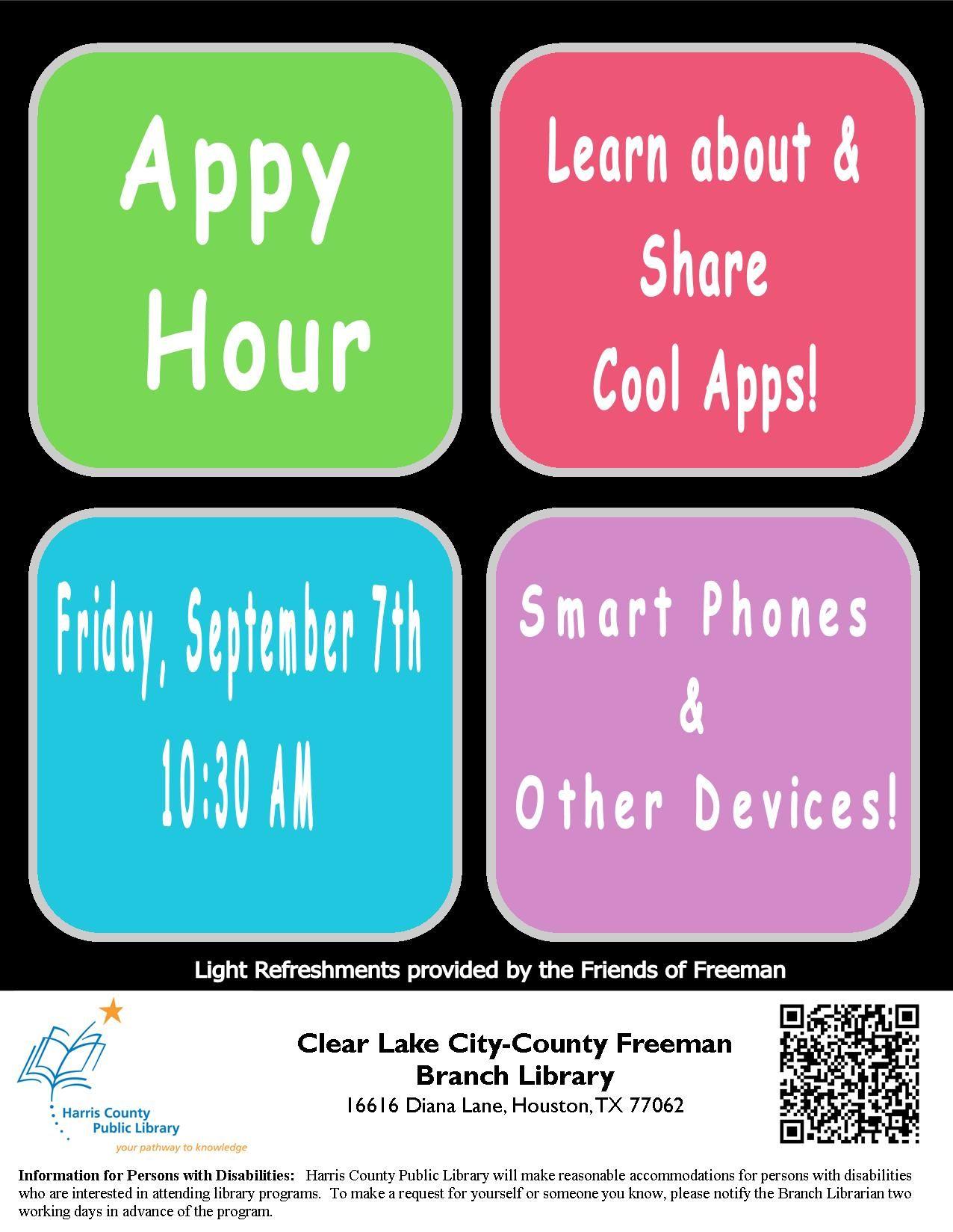 Appy Hour Harris County Public Library Educational Technology Common Sense Media Viral Marketing