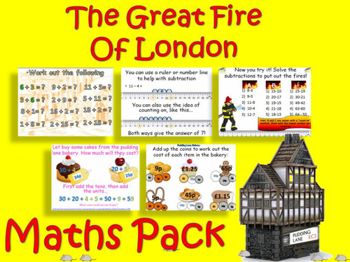The Great Fire Of London Maths Pack With Answers Ks1 Maths