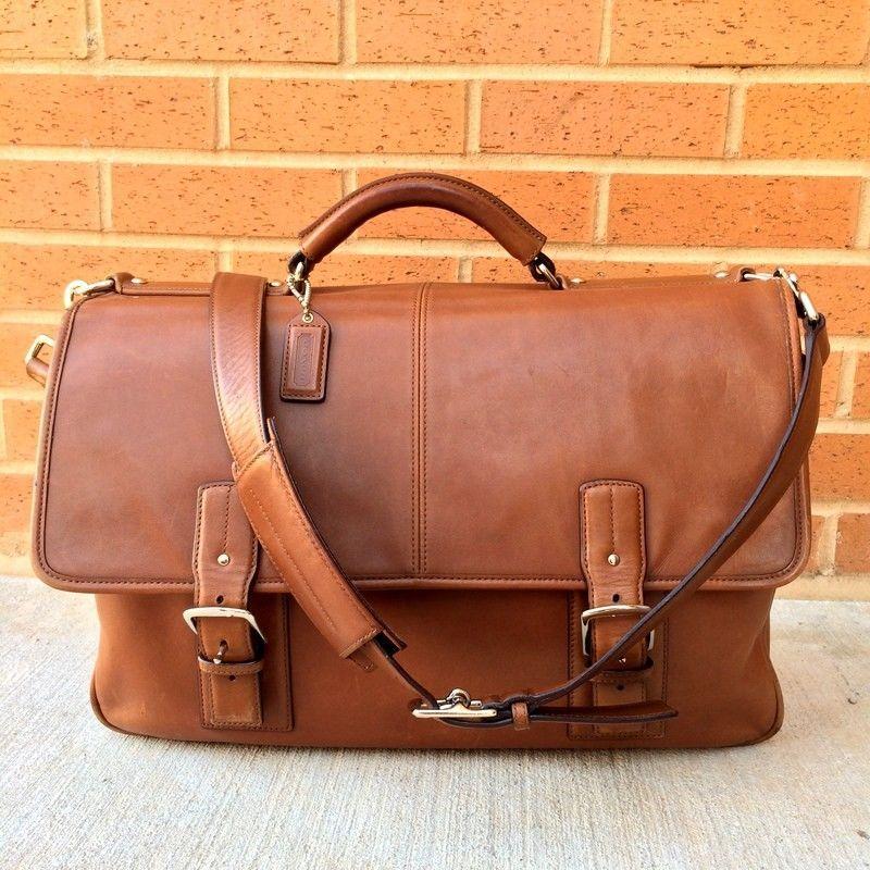 ab5b9316e4 Details about COACH F06455 Black Leather Thompson Executive Leather ...
