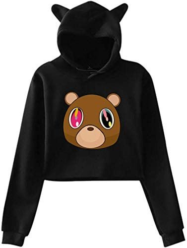 Enjoy Exclusive For Rppuer Women Hoodies Kanye West The College Dropout Pullover Cat Ear Sweatshirts Online In 2020 Hoodies Womens Sweatshirts Hoodies