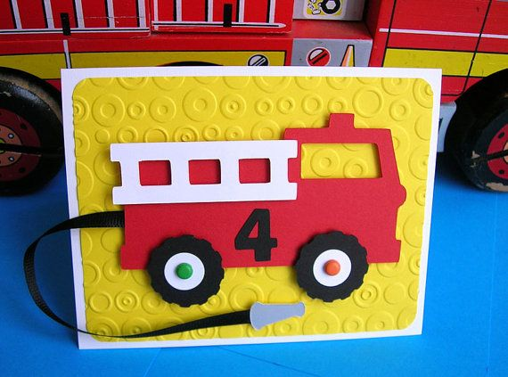 fire truck birthday invitation set of 8. Black Bedroom Furniture Sets. Home Design Ideas