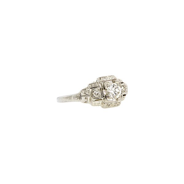 Doyle & Doyle   Engagement Ring: Vintage Engagement Ring, TRB 0.26ct