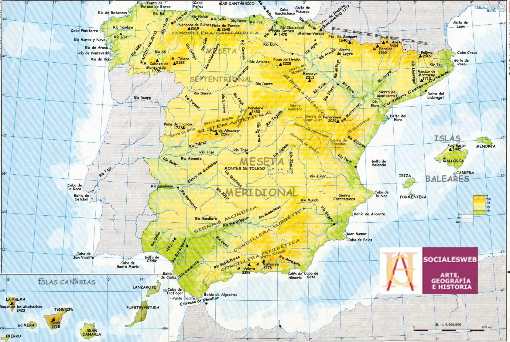Cabos golfos ros de Espaa  Mapas para Espaa  Pinterest