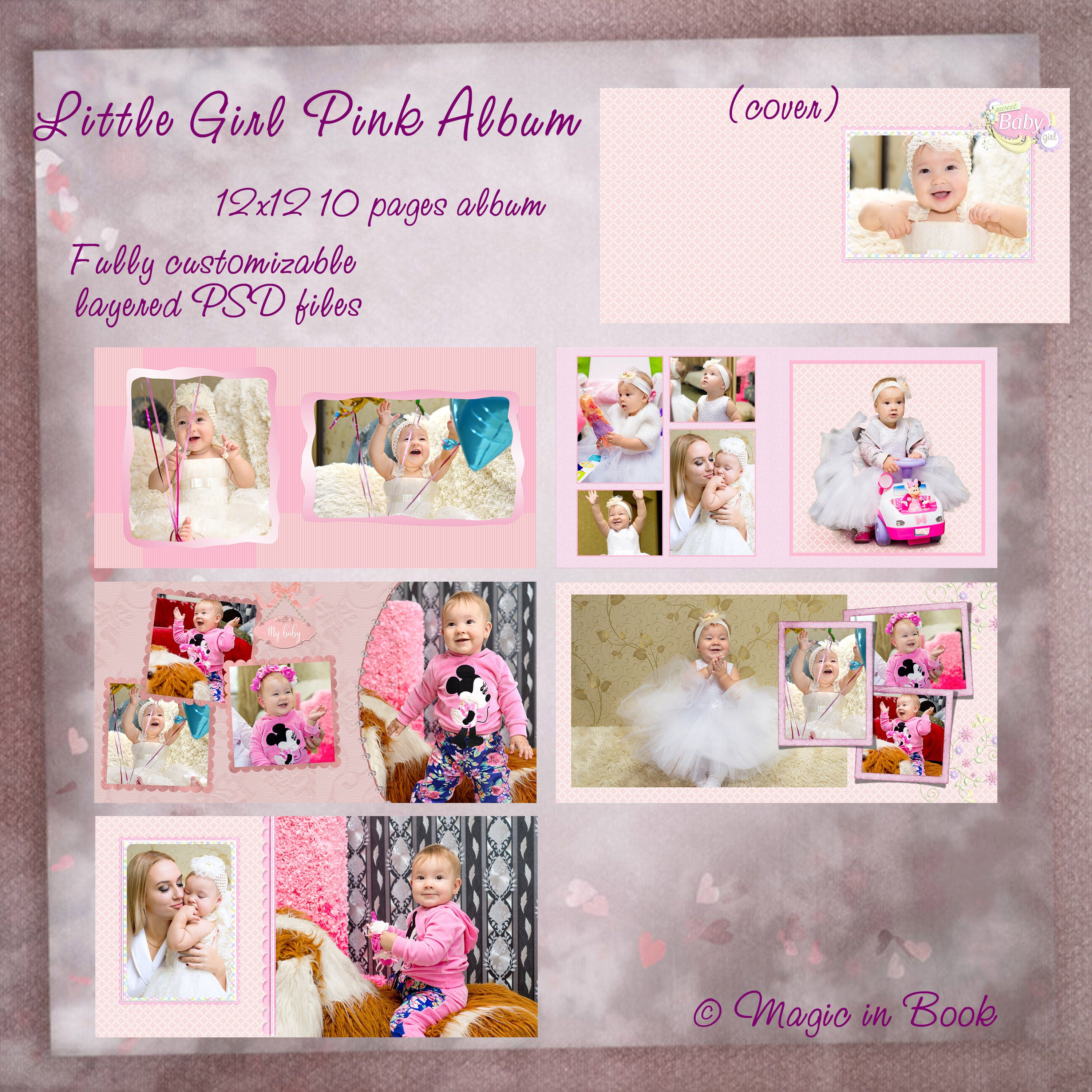 Baby Album Template Baby Girl Album Baby Book Template Baby First