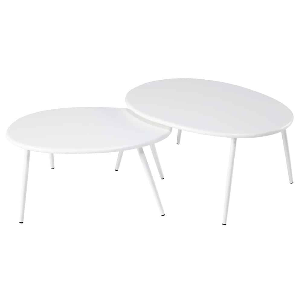 Tables gigognes de jardin en métal blanc | Products | Table ...