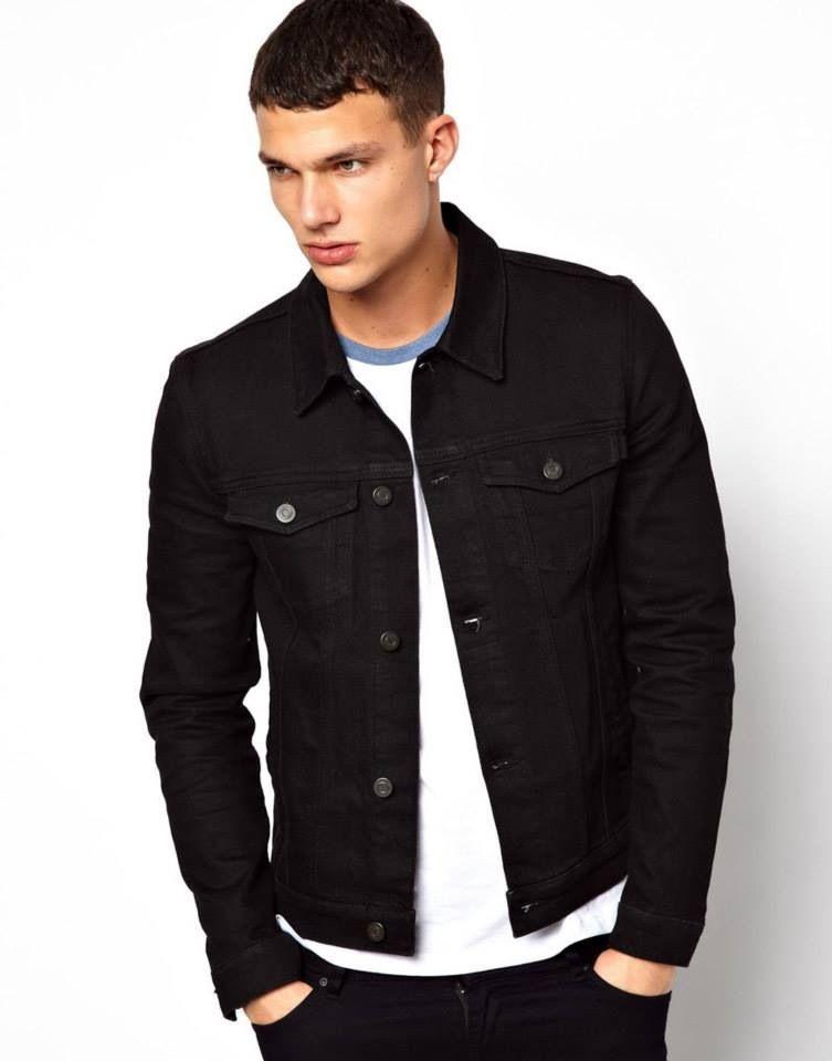 dae6ff491fb ASOS - Black Jean Jacket Denim Jacket Sale, Skinny Fit, Black Jeans,  Raincoat