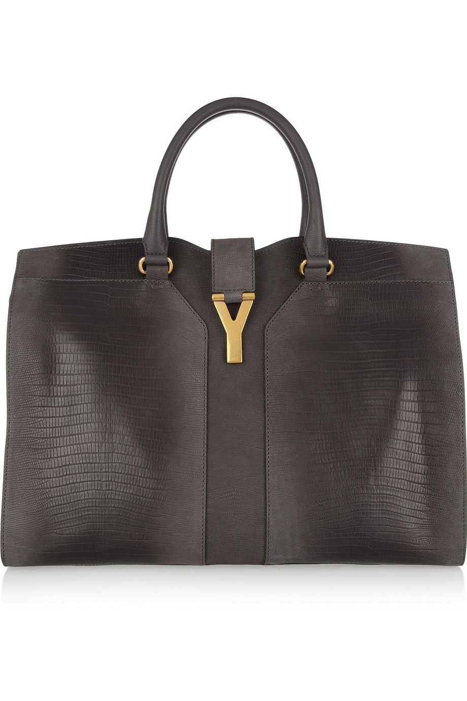 3e871fdf62aa Yves Saint Laurent - Cabas Chyc lizard-effect leather tote