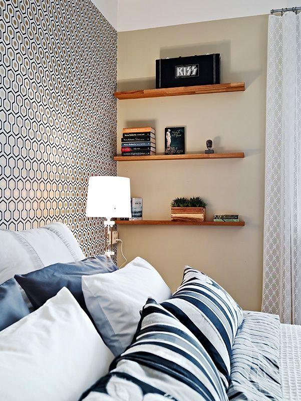 Prateleiras num cantinho do dormit rio decoracion hogar pinterest decoraci n hogar hogar - Pinterest decoracion hogar ...