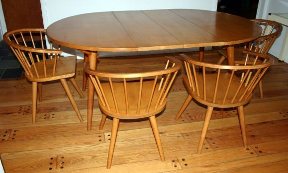 Russel Wright Conant Ball Table With 6 Chairs