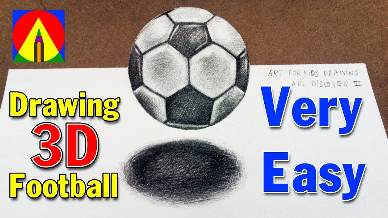 How To Draw A Soccer Ball Football Drawing 3d Floating Soccer Ball Football Drawing Soccer Ball Soccer Art