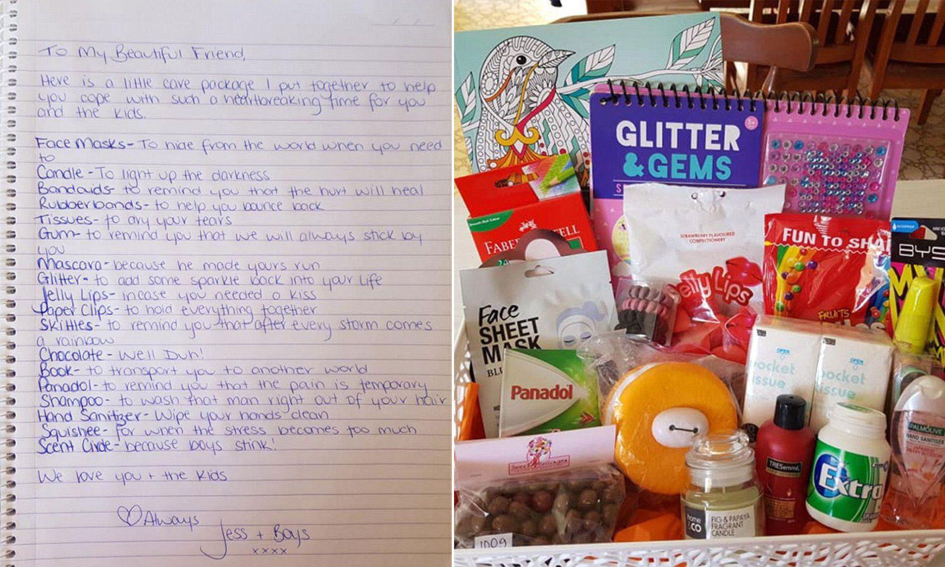 Friend Makes Break Up Survival Kit After Partner Walks Out On Family Breakup Kit Breakup Gift Survival Kit
